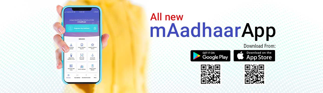 The new mAadhaar mobile app is now available for Android on Google Play and iOS on App Store