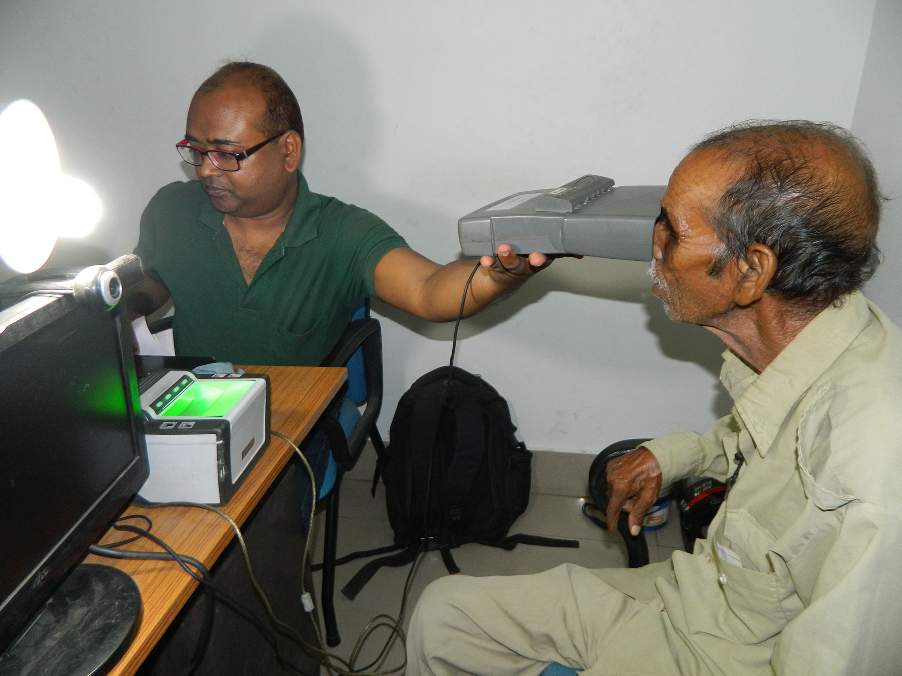 Aadhaar Enrolment of Elderly at Ranchi Jharkhand