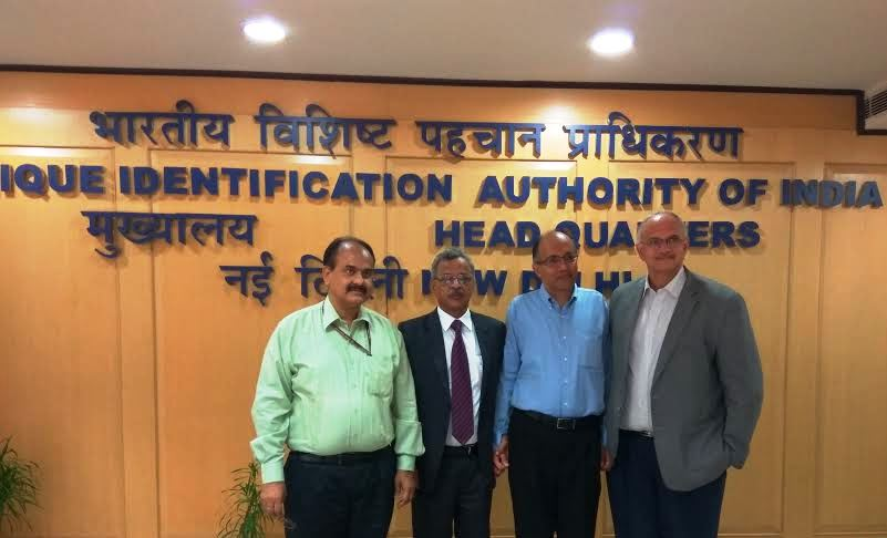 The new members of Aadhaar Authority at UIDAI HQ